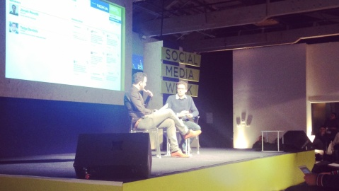 Toby Daniels and Jonah Peretti, Founder and CEO of Buzzfeed, discuss Buzzfeed's model at SMW 2014 in New York City